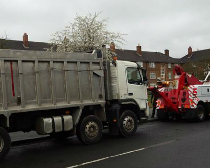20-tonne lorry seized in Staffordshire for illegally dumping waste. Picture Environment Agency