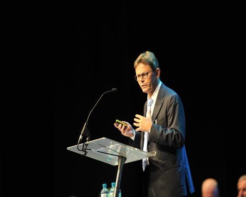 Professor Dr Helmut Maurer of the European Commission addresses delegates. Picture: Recoup