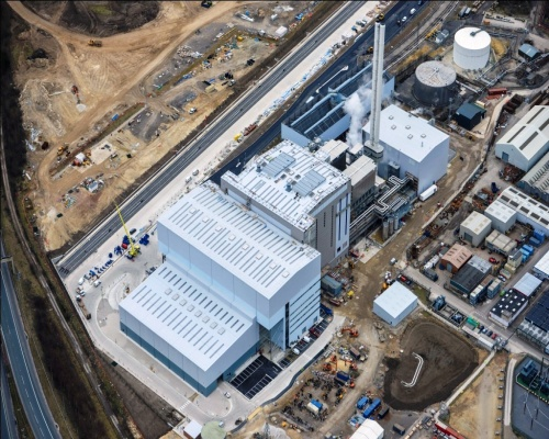 Aerial image of the Ferrybridge Multifuel 1 facility taken in March. Picture: Wheelabrator