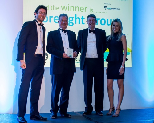 Foresight Group chiefs receive the award . Picture: Foresight Group