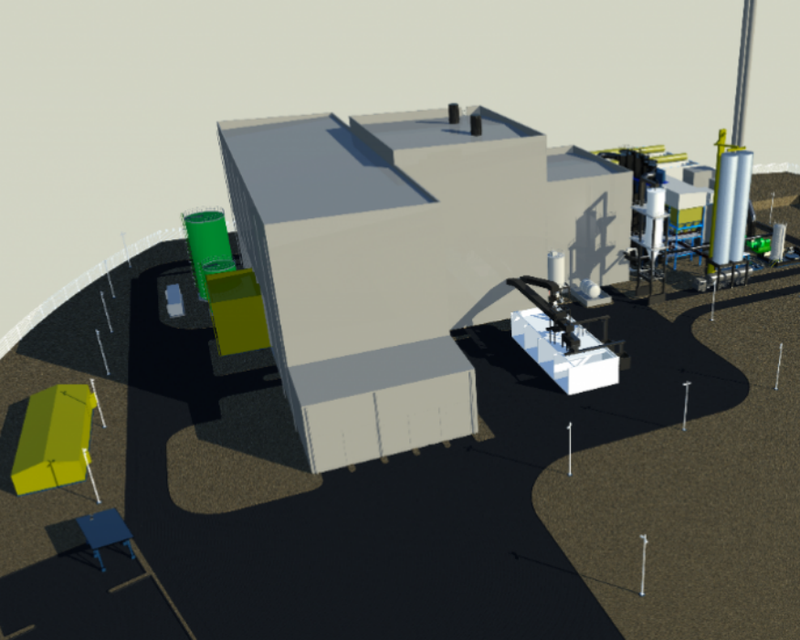 Hooton Bio Power plant will gasify 240,000 tonnes of waste a year. Picture: CoGen