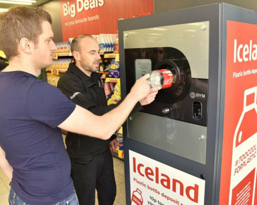 More than 311,000 plastic bottles were returned. Picture: Iceland