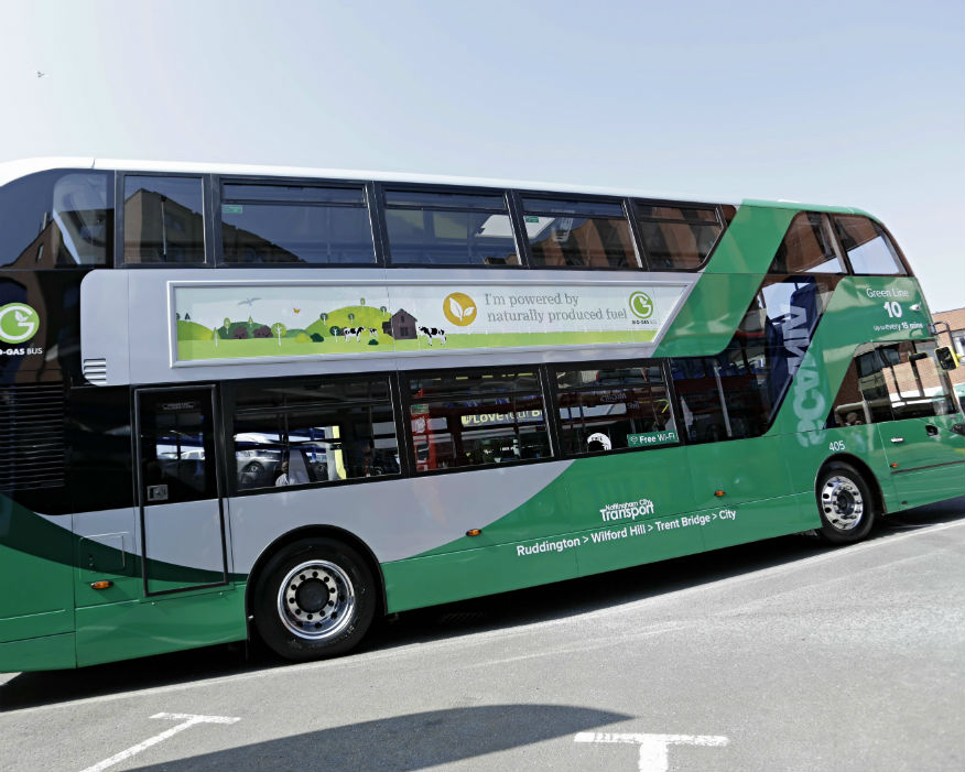 The 53 buses will form th world's largest biogas fleet, Picture: Nottingham City Transport