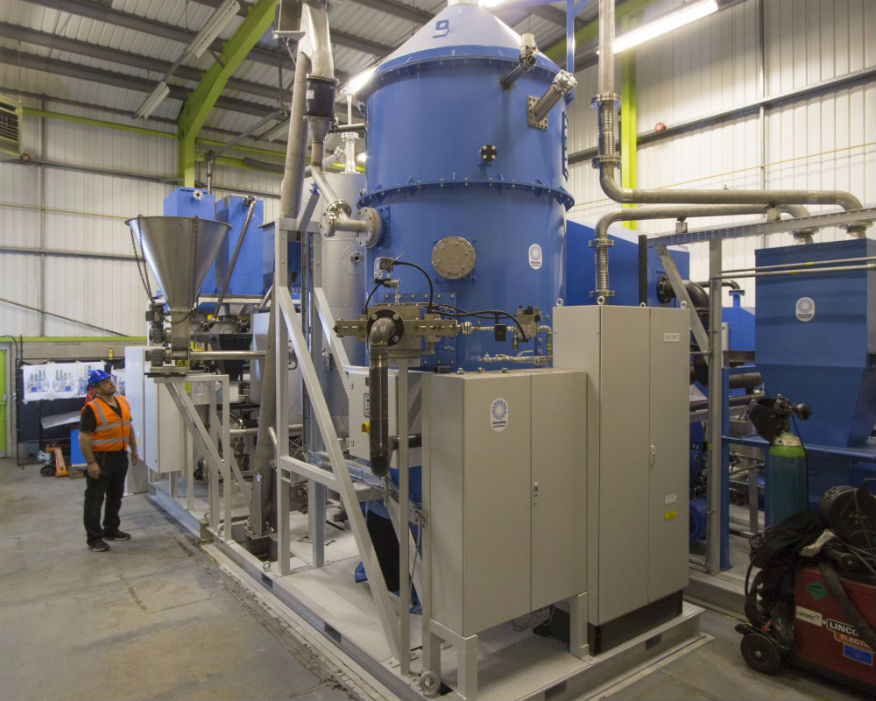 Plastic waste is turned into a low-sulphur hydrocarbon. Picture: Recycling Technologies