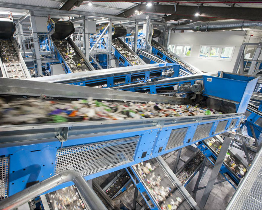 Rochester uses optical sorting facilities to recycle black plastic. Picture: Viridor