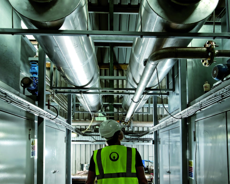 The plant processes 35,000 tonnes of food and farm waste a year. Picture: Veolia