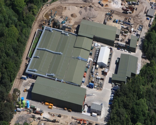 Aerial shot of the Canford facility that will serve 20,000 homes. Picture: New Earth