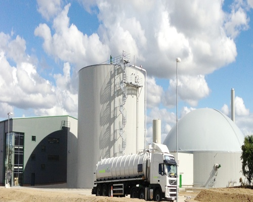 The region's first commercial food-waste facility can power around 2,000 homes each year. Picture: Emerald Biogas