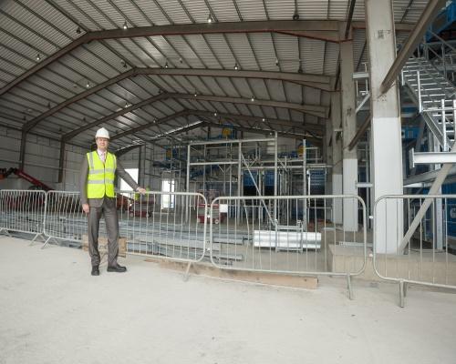 Herman van der Meij visits the construction site. Picture: Viridor