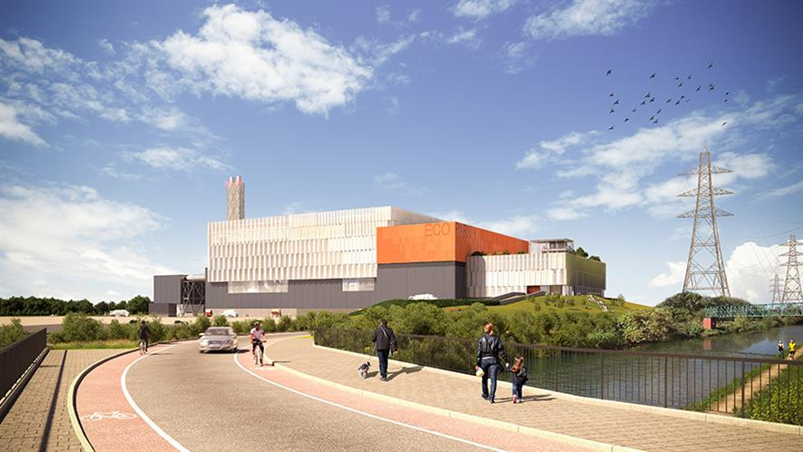 North London Heat and Power Project: waste hub will deliver modern resuse and recycling facilities. Photograph: North London Waste Authority