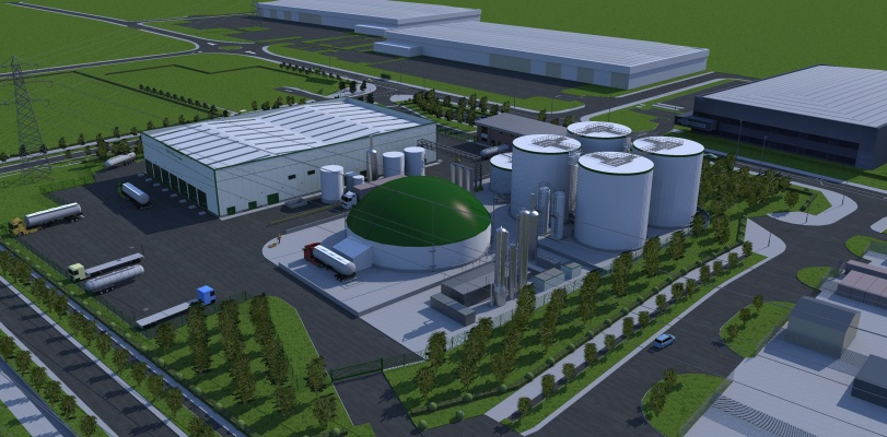 The plant will create enough low-carbon biogas to supply 10,000 homes. Picture: ReFood