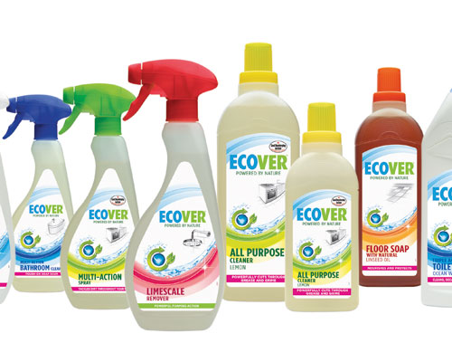 All Ecover bottles are made from sugar cane. Credit: Ecover