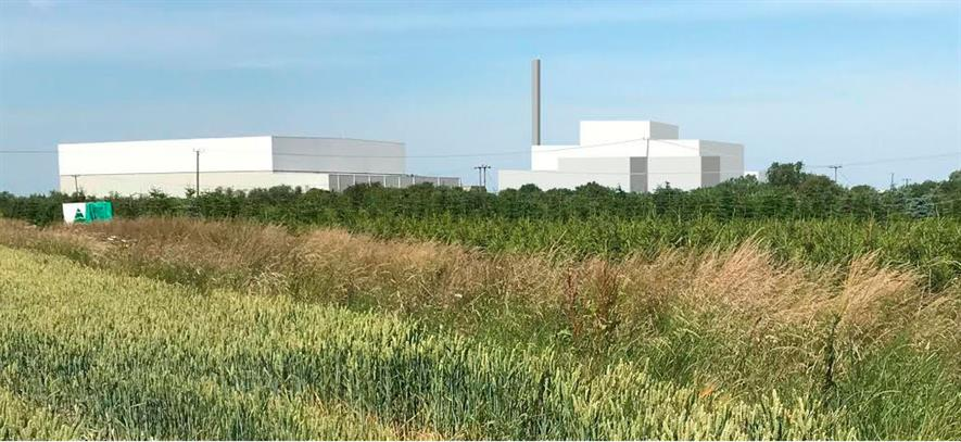 The plant's capacity has increased since plans for a 40MWe facility were announced last month