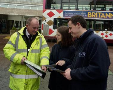 SEPA staff advise at Edinburgh's Gyle Centre (credit: SEPA)