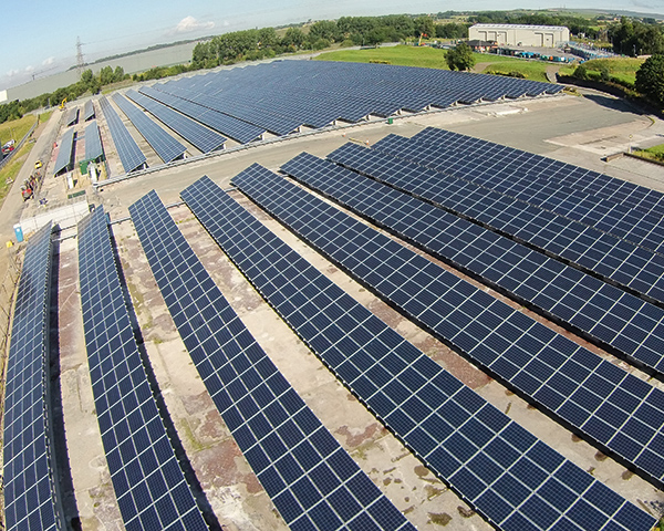 Solar: new site will provide electricity to the  in-vessel composting facility at Salford Road. Photograph: Styles and Wood Limited