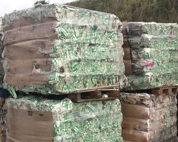 Baled waste can yield a return on investment. Photo: Huhtamakir