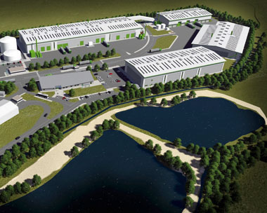 Visualisation of the 170,000 tonnes of waste a year site in South Kirby (credit: Wakefield Council)