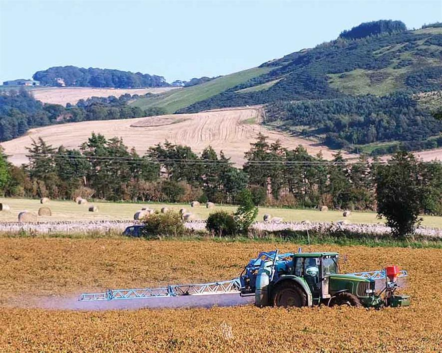 Crop spraying with digestates carries a risk of nutrients entering water systems. Photograph: Brian Forbes