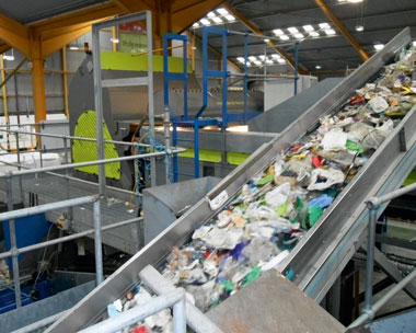 The Redcar facility: the first to recycle plastic milk bottles into a food-approved compound (credit: Biffa Polymers)