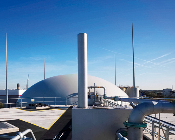 East London biogas plant boosted by funding. Photograph: Foresight