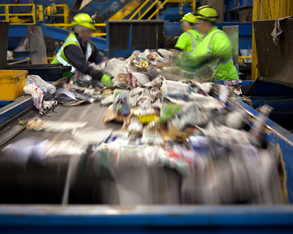 The recycling subsector accounted for the majority of mergers and acquisitions. Photograph: Huguette Roe/123RF