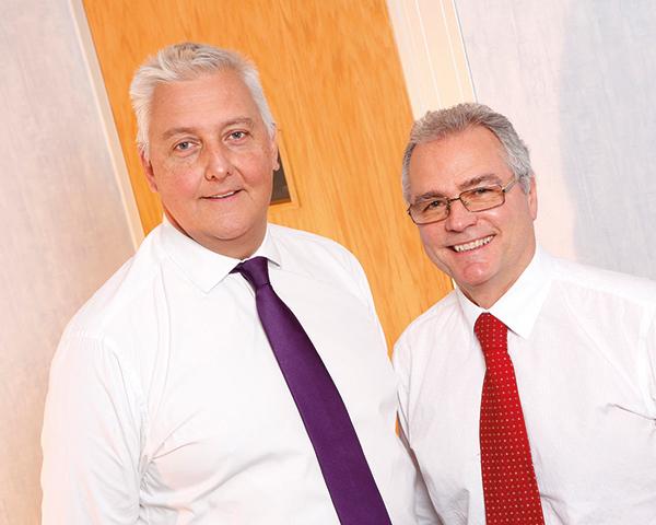 Repic CEO Mark Burrows-Smith (left) and former CEO Philip Morton talk tactics. Photograph: Repic