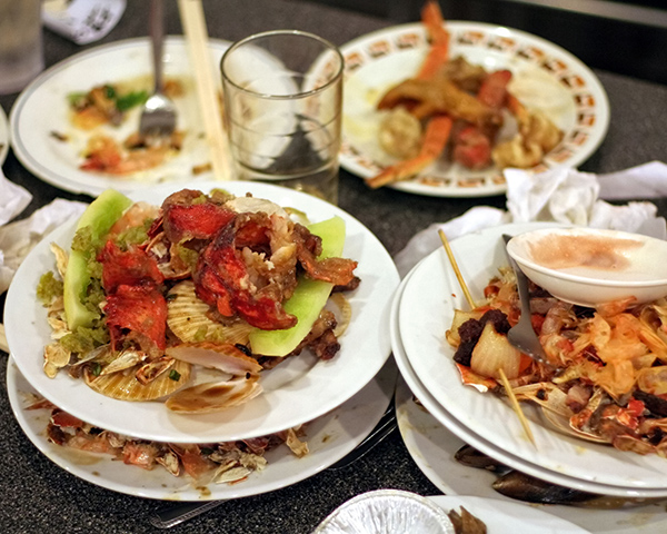 The restaurant sector alone accounts for nearly £700m of food waste, according to WRAP. Photograph: 1feng Yu/123RF