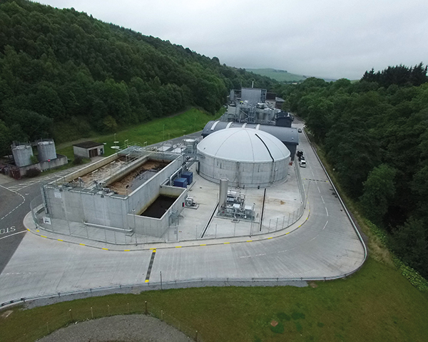 Glendullan's AD plant is cutting carbon footprint. Photograph: Clearflue