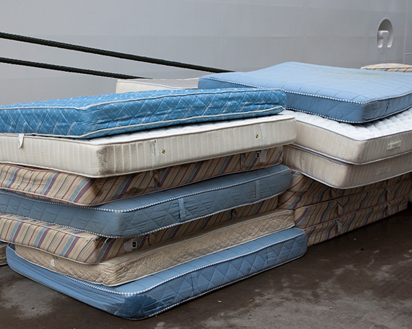 Seven million mattresses go to landfill annually.Photo: Furniture Recycling Group