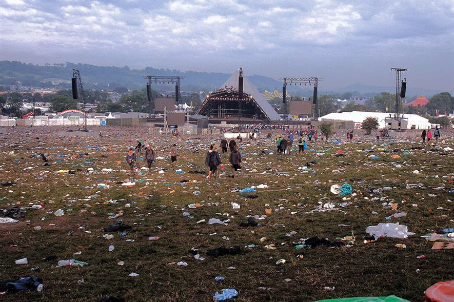 Cleaning up the Glastonbury site after the festival has been estimated to cost as much as £ 800,000. Photo: Nick Rice/ Flickr