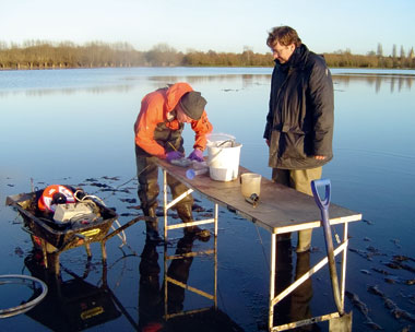 A three-year study of a floodplain near Oxford conducted a chemical analysis of 28 sites (credit: British Geological Survey)