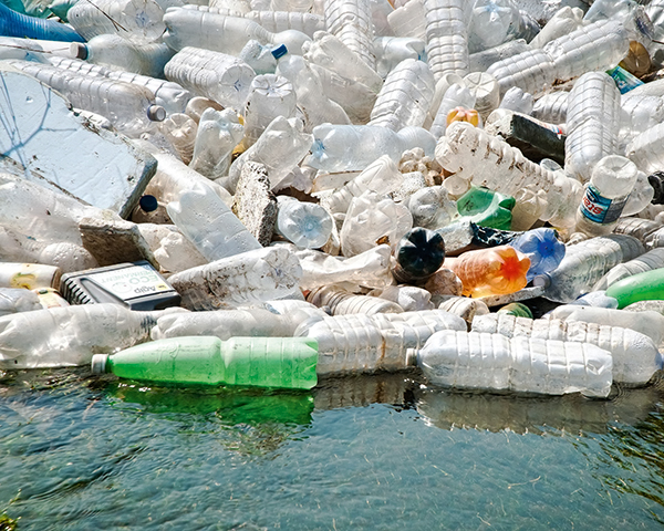 Plastic bottles and other discarded items are having a detrimental effect on rivers and oceans. Photograph: Altomedia/123RF
