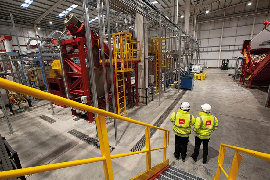 BIffa's £27.5m Seaham recycling plant turns PET bottles back into food-grade PET. Photograph: Biffa
