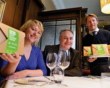 The Good to Go launch team included Glasgow restaurateur Ryan James (right) (credit: Zero Waste Scotland)