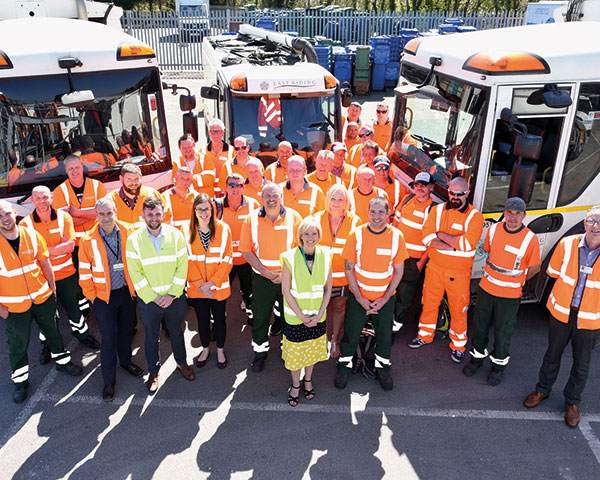 East Riding waste and recycling team members. Photo: ERYC