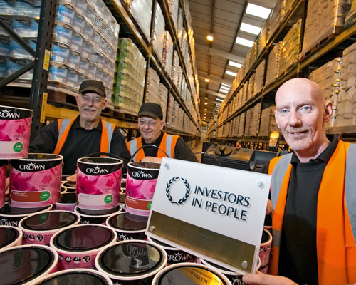 Crown Paints' Derwin distribution centre achieved the Investors in People Gold Standard. Credit: Crown Paints