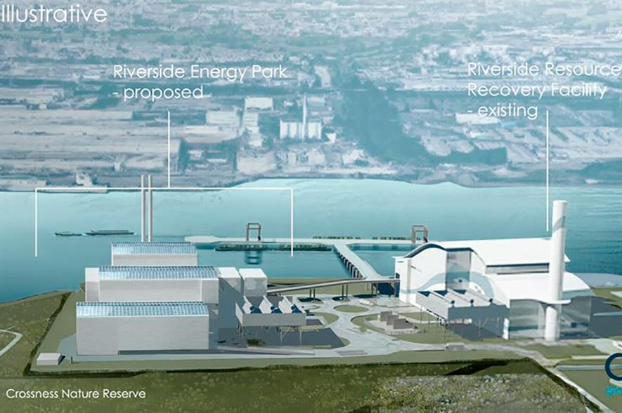 The expansion would increase Riverside's waste treatment capacity by 650,000 tonnes a year