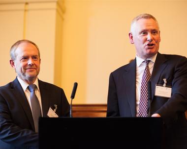 David Beadle and David Palmer-Jones agree closer ties. Picture: CIWM/ESA