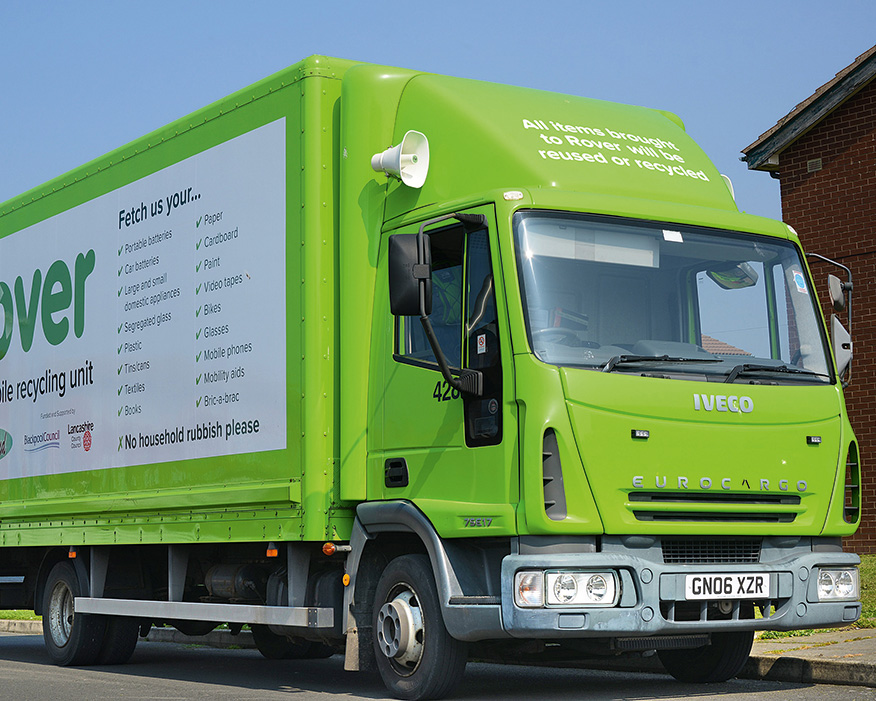 Blackpool Rover regularly collects recycling. Photograph: Blackpool Council