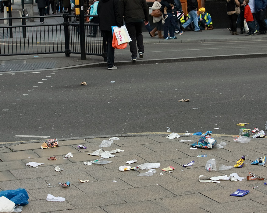Littered cost councils about £1bn year to clean. Photograph: Antoskabar/Flckr