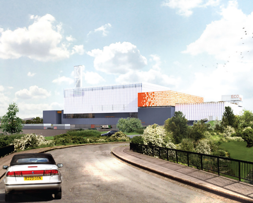 How the new energy-recovery facility could look. Photograph: NWLA