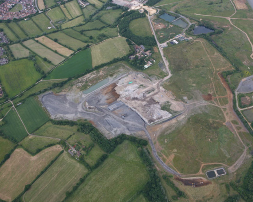 The 42 hectare site received up to 350,000 tonnes of waste in a year. Picture: Viridor