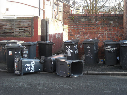 """Bins: the government is looking for new homes to """"design out"""" bin blight (Picture by Gene Hunt)"""