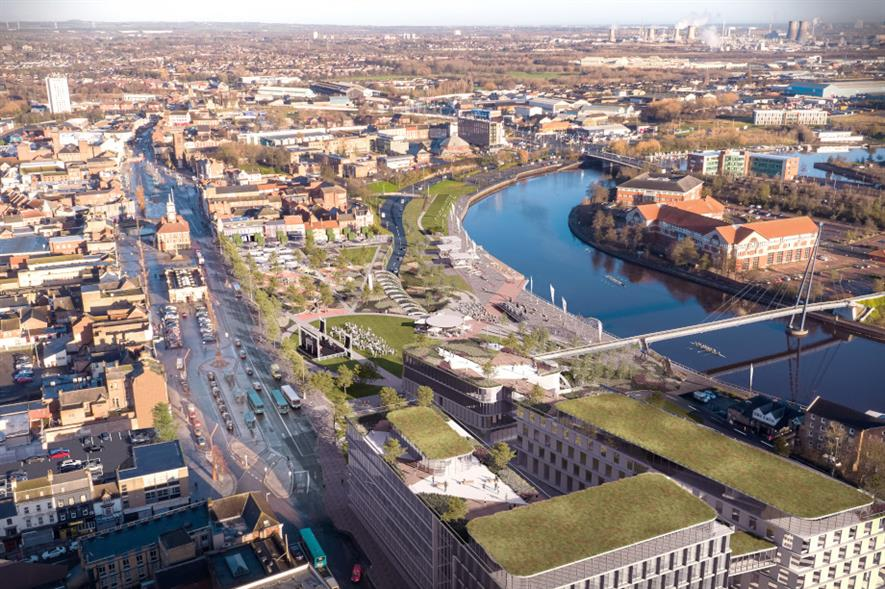 Design proposals for creation of Stockton Waterfront - credit: Stockton‑on‑Tees Borough Council