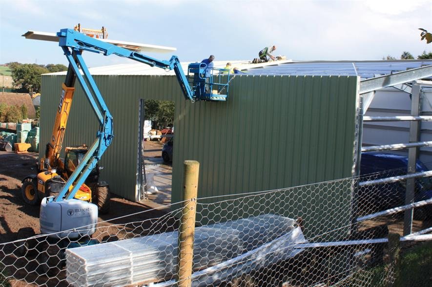 Building work: Majestic Trees putting up a work and storage facility