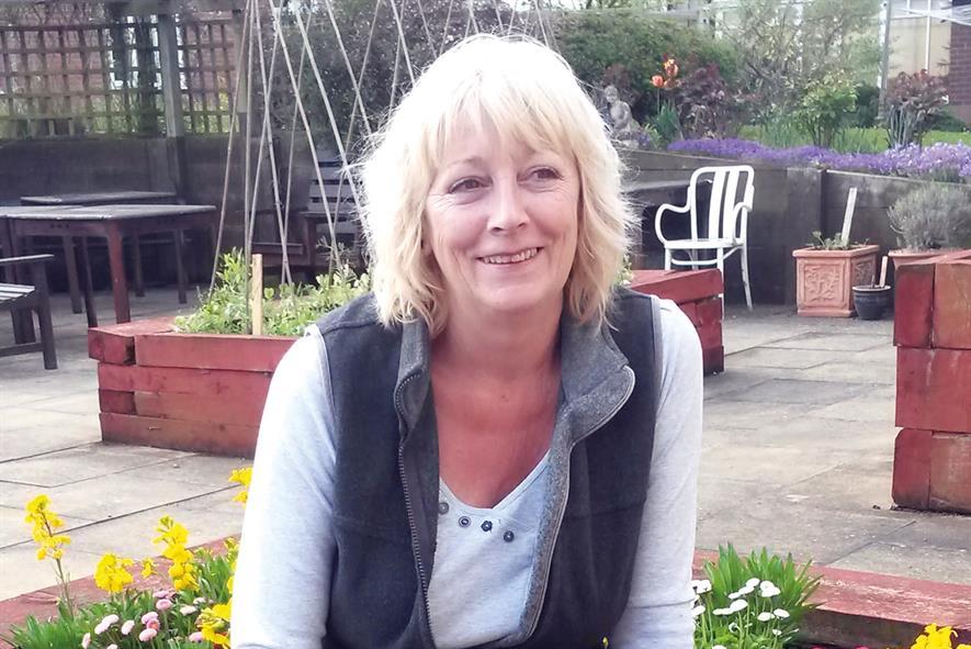 Bev Mumford, self-employed gardener