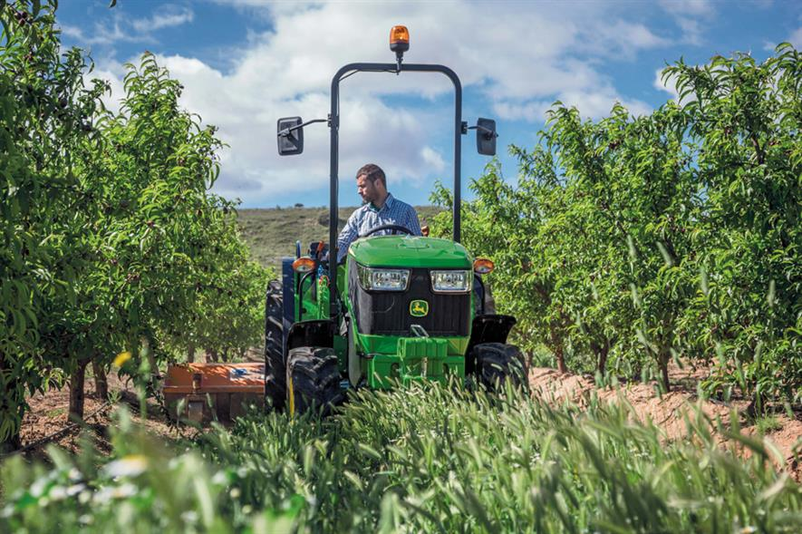 One of John Deere's latest 5G Series tractor - image: © Deere & Company