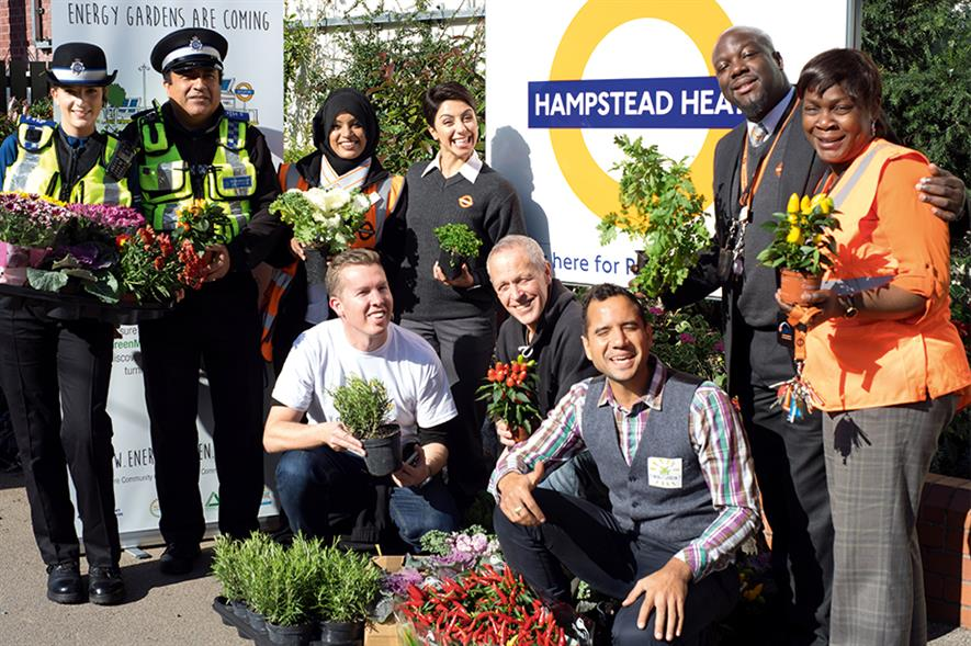 Station makeovers: creating gardens and growing areas - image: Groundwork