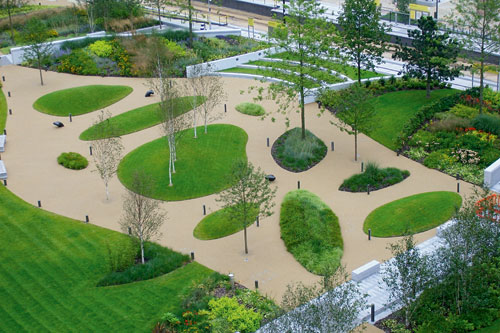 The Broadway waterfront scheme at Salford Quays scooped the Grand Award - image: Landscape Group