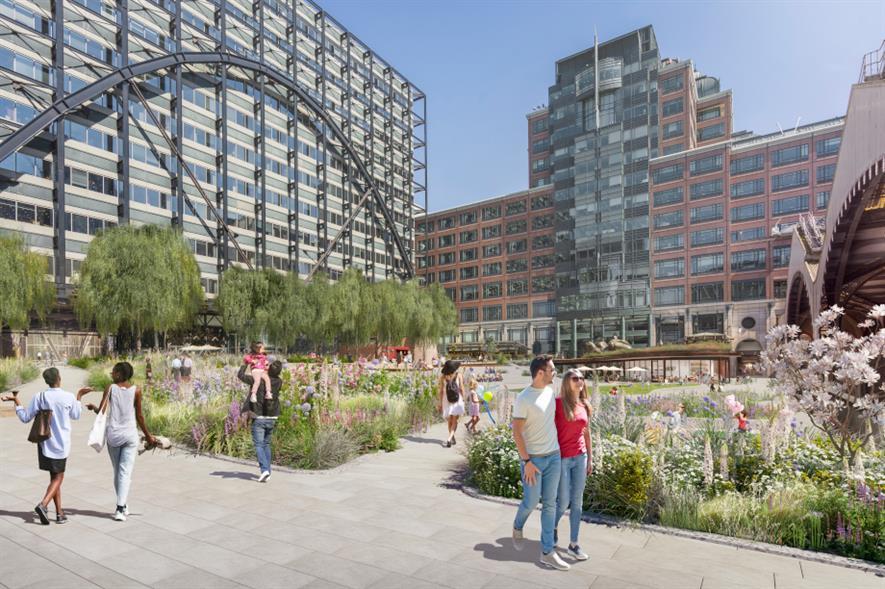 Design rendering for the new park at Broadgate - credit: British Land